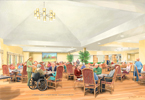 Healthcare   dining room painting thumbnail