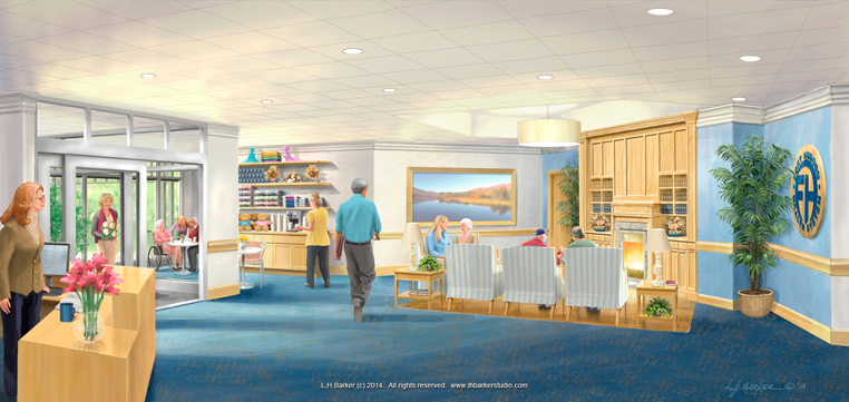 healthcare facilities lobby