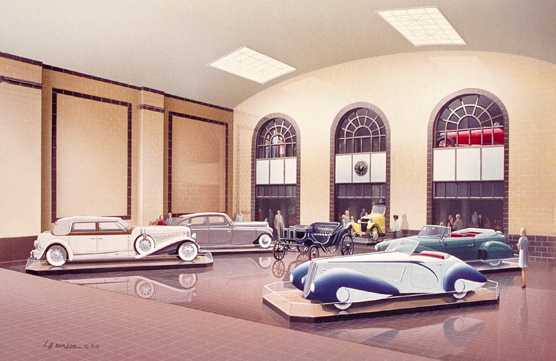 Saratoga Automobile Museum, Saratoga Springs, NY. Suite   of 2 L.H.Barker (c) 2000. All rights reserved.