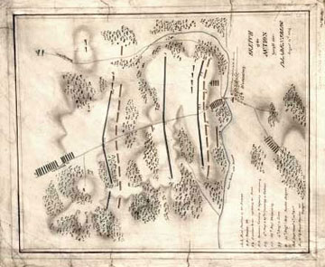 Ormsby Battle of Bladensburg: sketch of the action