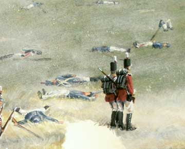 Painting detail,  Battle of Bladensburg