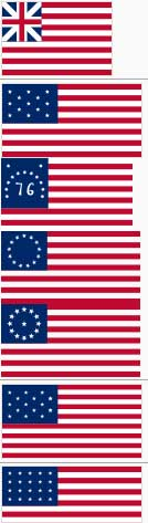 early American flag designs