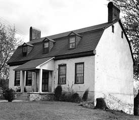 Exterior north elevation Magruder house