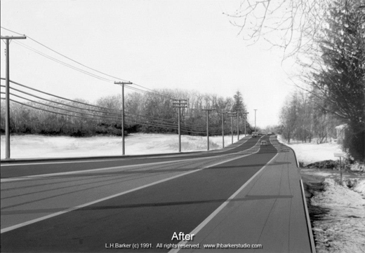 """After"",   Washington Avenue Extension, North Greenbush, NY Suite of 5. L.H.Barker (c) 1991. All rights reserved."