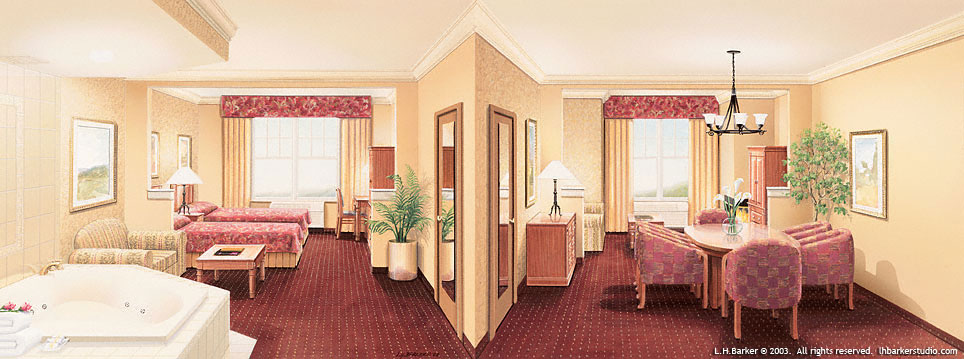 Fort William Henry Resort, Lake George, NY Suite of 2.   L.H.Barker (c) 2003. All rights reserved.